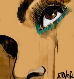 """Loui Jover; Pen and Ink, Drawing """"see"""""""