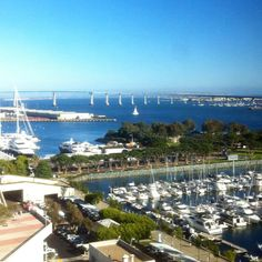 The Embarcadero in San Diego, California, USA is the area along the San Diego harbor on the east side of San Diego Bay.
