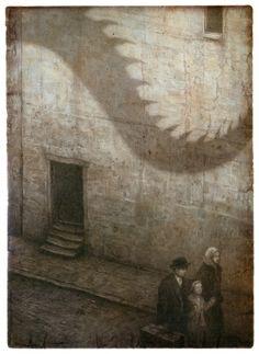 Emigrantes, illustrated album from Barbara Fiore Editora.  Illustrations by Shaun Tan.