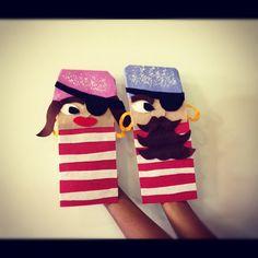 @Geri Calabia Calabia Foglia Chesner | The pirate couple!! #crafts #puppets #kids #summercamp #pirates #girl #boy #a... | Webstagram - the best Instagram viewer