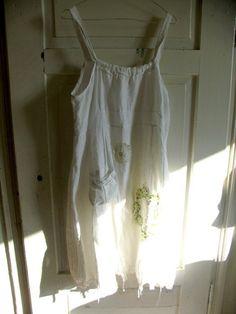 Romantic White Dress Urban Chic Dress Garden by recyclingroom, $49.99