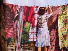 I'd help my mom hang clothes on the line back in the day.