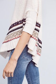 Woodland Stroll Poncho - anthropologie.com