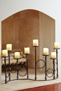 The ingeniously designed, hinged center of our distinctive Lefroy Pillar Candle Holder allows you to easily adjust the positioning to suit your space.