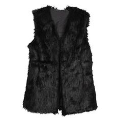 Etosell Lady Faux Fur Vest Waistcoat Long Hair Winter Warm Coat Outwear