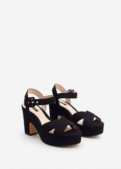 Crossover platform sandals -  Women | MANGO USA