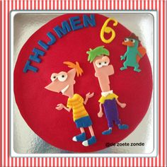 Phineas and ferb taart