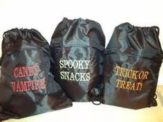 trick or treat smell my feet.... cinch sacs make it easy to carry your ...