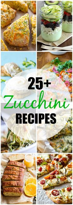 Get your zucchini ready!  You are sure to find something creative and delicious to make in this round up of 25+ Zucchini Recipes! Perfect recipes for the end of summer - or all year round!