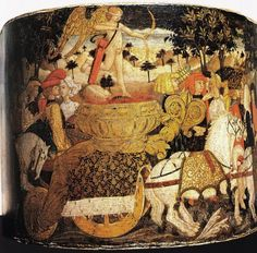 Lo Scheggia (Giovanni di Ser Giovanni detto) - Trionfo dell' Amore (desco da parto) - 1448-1449 - Museo di Palazzo Davanzati, Firenze