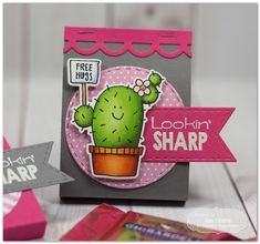 Taylored Expressions - Lookin' Sharp Valentine Treat by Jen Shults* #freehugs #cactus #lookinsharp #justbecause
