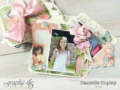Scraps of Spring Tag Mini, Precious Memories, by Danielle Copley, Graphic 45, photo 1