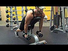 Hardcore shoulder workout; lots of supersets.