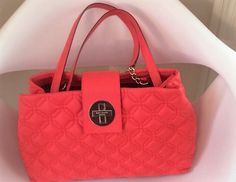 kate spade quilted vermillion bag $195. available at link below:  http://madison.craigslist.org/clo/5612533363.html