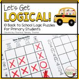 Logic Puzzles Back to School Back To School Activities, Hands On Activities, Math Activities, School Fun, Reading Response Activities, Critical Thinking Activities, Physics Classroom, Primary Classroom, Logic Puzzles