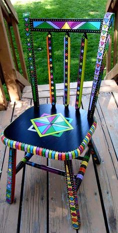 colored traditional chair