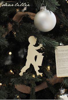 silhouette christmas tree ornaments
