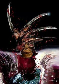 DeviantArt: More Like Nightmare on elm street poster by Horror Icons, Horror Films, Freddy Krueger, Freddy Horror, Slasher Movies, Horror Artwork, Nightmare On Elm Street, Halloween Horror, Scary Movies