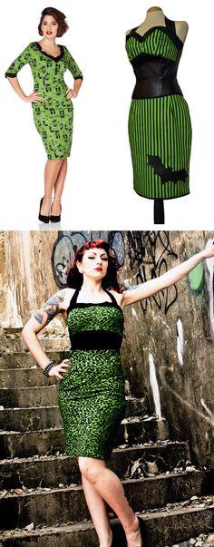 Shop psychobilly horror dresses at RebelsMarket.