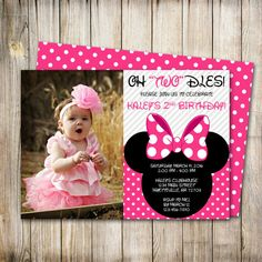 Minnie Mouse Birthday Invitation Minnie Mouse by ThePaperTrailCo