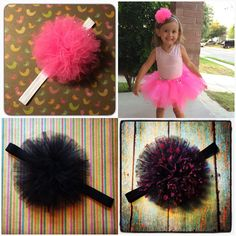 Tutu 'bee-lay' (ballet) bows that my daughter and I have fallen in love with.   www.facebook.com/MidnightBows  Instagram - @MidnightBows