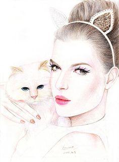 Fashion Hand-drawn illustration-From Hanana