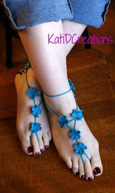 Crochet Foot Jewelry Pattern, Barefoot Pattern, Foot Thong Pattern, Baby Shoe, Wedding Shoes, Beach Sandals, Sandal Pattern, Patterns, PDF