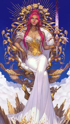 Card of the Day – King of Swords – Saturday, February 2018 « Tarot by Cecelia Black Girl Art, Black Women Art, Art Girl, Fantasy Character Design, Character Design Inspiration, Character Art, Chica Fantasy, Fantasy Girl, Fantasy Characters