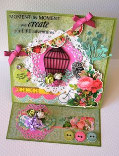 """Created for Kaisercraft DT work, using the """"Secret Admirer"""" paper collections.  Adriana Bolzon"""