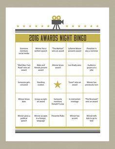 2016 Printable Oscar Bingo--so much fun at an Oscar party!