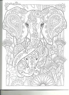 Elephant coloring page Printable Adult Coloring Pages, Cute Coloring Pages, Colouring Pics, Mandala Coloring Pages, Animal Coloring Pages, Coloring Pages To Print, Coloring Books, Elephant Coloring Page, Elephant Colour