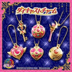 Sailor Moon Die-Cast Charm Gashapon Set of 6
