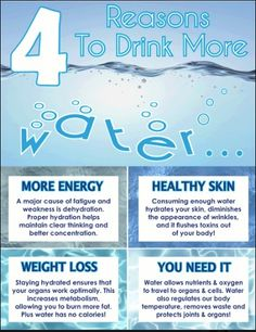 Drink water, it's good for you!