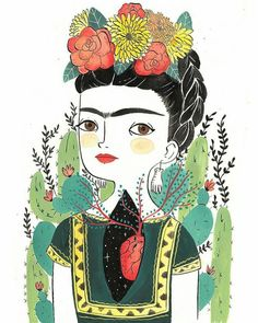 Digital print illustration printed on a 240 g whatercolor x cm // x print is signed.All images copyright María Hesse, Frida E Diego, Frida Art, Art And Illustration, Illustrations Posters, Maria Hesse, Arte Popular, Mexican Art, Art Inspo, Folk Art