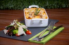 Lasagna - Just one of the many stunning dishes on the new #GirdersGarden menu. Available from 1st December 2013 at the #JAOceanViewHotel. Find out more here: https://www.facebook.com/oceanviewthewalk