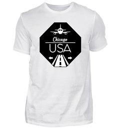Chicago USA T-Shirt Chicago Usa, Basic Shirts, New York City, Houston, Mens Tops, Fashion, Cotton, Naples Italy, Dublin Ireland