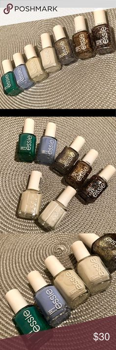 Essie nail polish bundle! With others 7 barely/some never used Essie nail polishes. Naughty Nautical Bikini so Teeny Marshmallow Blanc On a Silver Platter Summit of Style Jazzy Jubilant  This bundle also includes around 12 random nail polishes as long as weight permits! (Last pic) Accessories