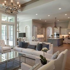 5 Tips for Decorating a Combined Living & Dining Room - Happily . Dining Room Decor combined living and dining room decorating Living Room Kitchen, Home Living Room, Living Room Furniture, Living Room Designs, Living Spaces, Dining Room, Small Living, Living Area, Kitchen Furniture
