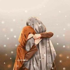 Girl Cartoon, Cartoon Art, Girly Dp, Hijab Drawing, Cool Pictures Of Nature, Anime Angel Girl, Image Beautiful, Bff Drawings, Islamic Cartoon