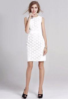 c79ad13d53 White lace dress Lace Summer Dresses