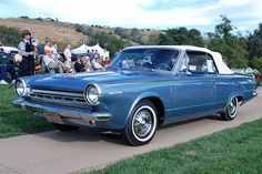 1964 Dodge Dart Convertible, which in optional automatic form had push buttons to select the gears.
