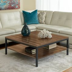 The Paige Square Cocktail Table is the perfect addition to any contemporary living space. Available in 3 colors. $299.00