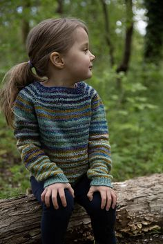 Flax sweater pattern from Tin Can Knits with variations such as stripes and cables.  #childssweaterpattern #freesweaterpattern #tincanknits