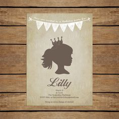Brown Vintage Princess Invitation   Customizable by SweetPapermint, $15.00