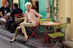 CYRILLUS Veste femme coton/lin et pantalon chino