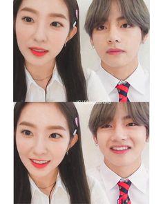"""방탄소년단 - 레드벨벳❤ di Instagram """"😐/😄"""" Korean Couple, Best Couple, Couple Aesthetic, Kpop Aesthetic, Boy Band, Korean Drama Romance, Irene Kim, Role Player, Bts Girl"""