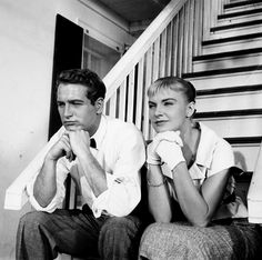 "Paul Newman and Joanne Woodward from ""The Long Hot Summer""..One of my favorite movies."