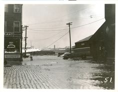 State St. Railroad Station looking North after the 1938 hurricane