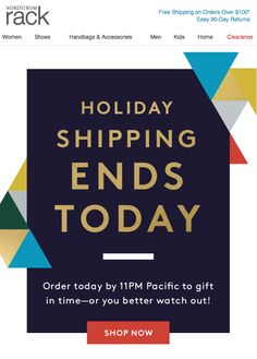 Nordstrom Rack - Holiday Shipping