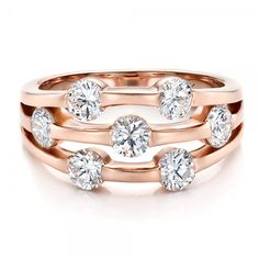 Custom Rose Gold and Diamond Engagement Ring | Joseph Jewelry Seattle Bellevue